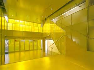 gallery uqam campus yellow interior color scheme