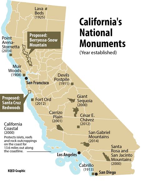 national monuments map does california need more national monuments kqed science