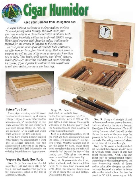 humidor woodworking plans cigar humidor plans woodarchivist
