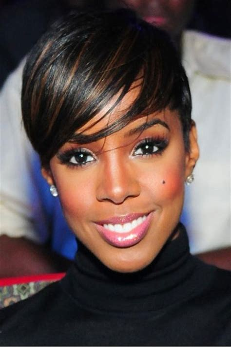short pixie cut caramel pixie hairstyles with highlights for black women hair