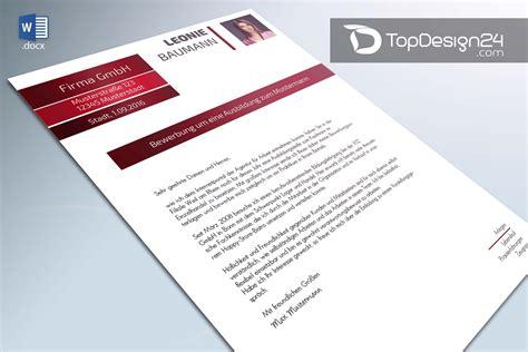 Bewerbungsschreiben Design Vorlage Bewerbungstext Beispiele Topdesign24 Bewerbungsvorlage