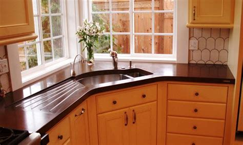 kohler sinks portland oregon concrete kitchen counter with drainboard from coulee