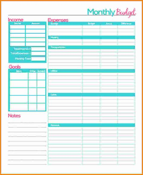 Budget Plan Worksheet by 6 Monthly Budget Planner Worksheet Authorization Letter