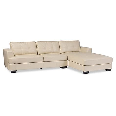 Baxton Studio Dobson Leather Modern Sectional Sofa Bed Dobson Sectional Sofa