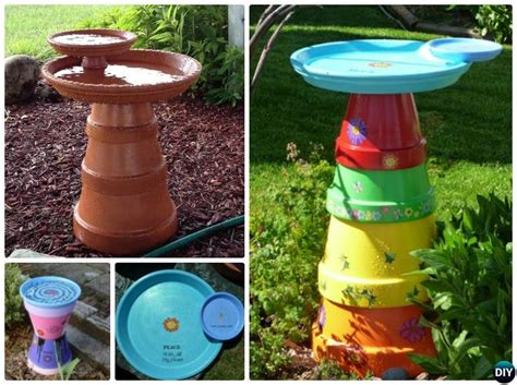 diy clay pot birdfeeders