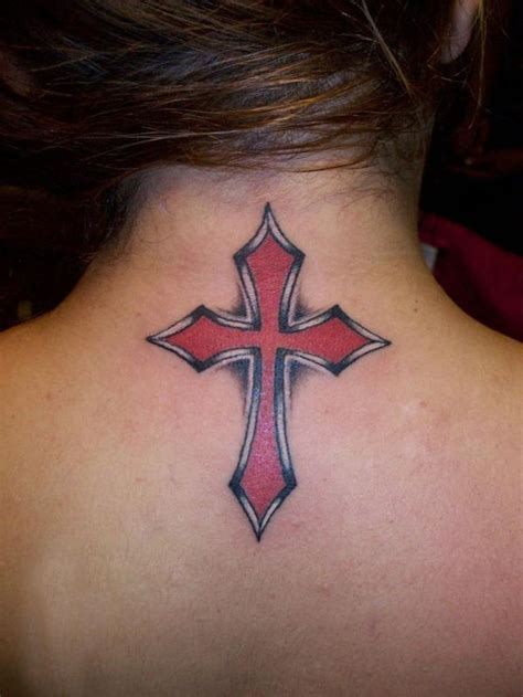 simple cross tattoo on back cross tattoos for designs piercing