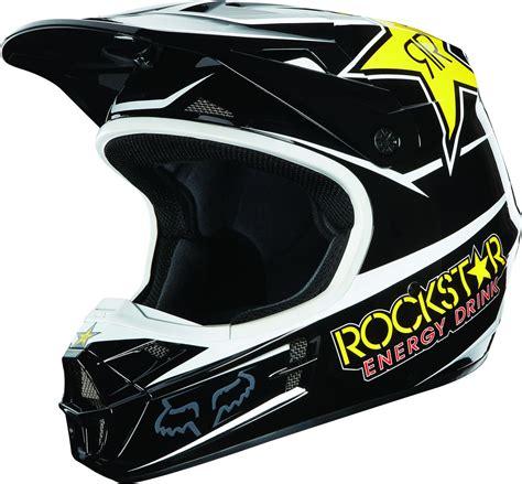 rockstar motocross helmets fox helm v1 rockstar black 2013 maciag offroad