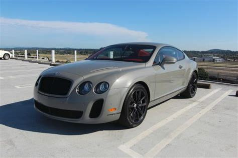 bentley coupe 2010 sell used 2010 bentley supersport coupe no reserve in