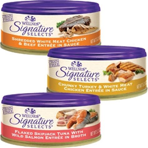 signature food free can of wellness signature selects cat food at petco