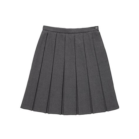buy school box pleat skirt grey lewis