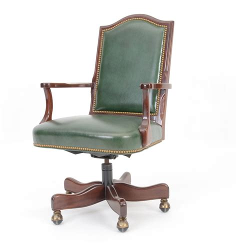 green leather office chair hancock green leather executive office chair ebth