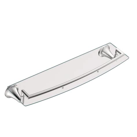 brushed nickel shelves bathrooms brushed nickel bathroom shelf with towel bar