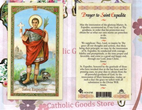 where can i buy prayer st expedite prayer to expedite laminated holy