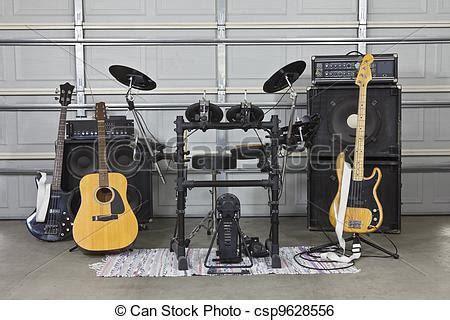Garage Band Xbox 360 Stock Image Of Garage Band Set Up Rock Band Equipment In