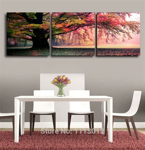 tree modern canvas art wall decor landscape oil painting framed sale modern abstract home wall decoration oil