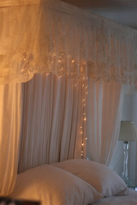 bed canopy with fairy lights princess bed canopy with fairy lights floral wallpapered