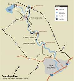 guadalupe river map guadalupe river trout fishing