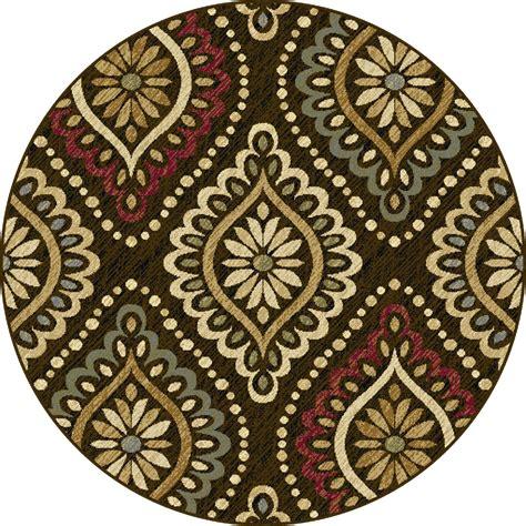 round accent rug tayse rugs laguna modesto medallion area rug 5 3 round