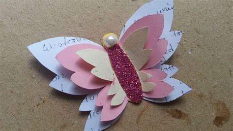 How To Make Decorative Paper - how to make a decorative paper butterfly diy crafts