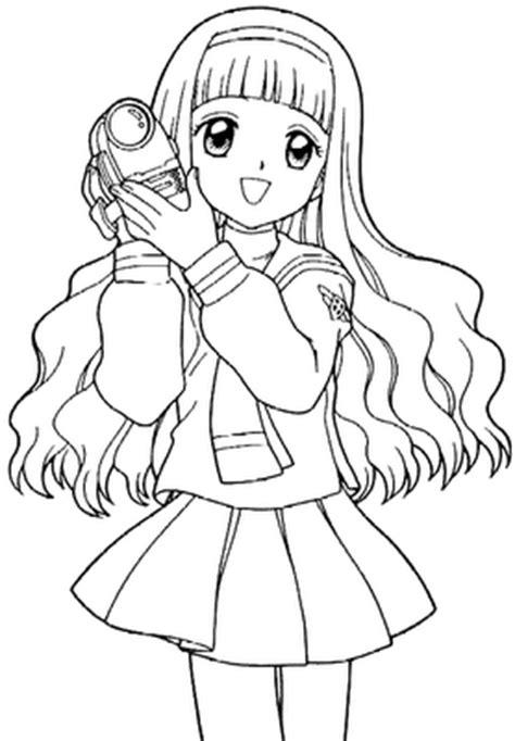 Dibujos para colorear de chicas Animé y del ángel Animé