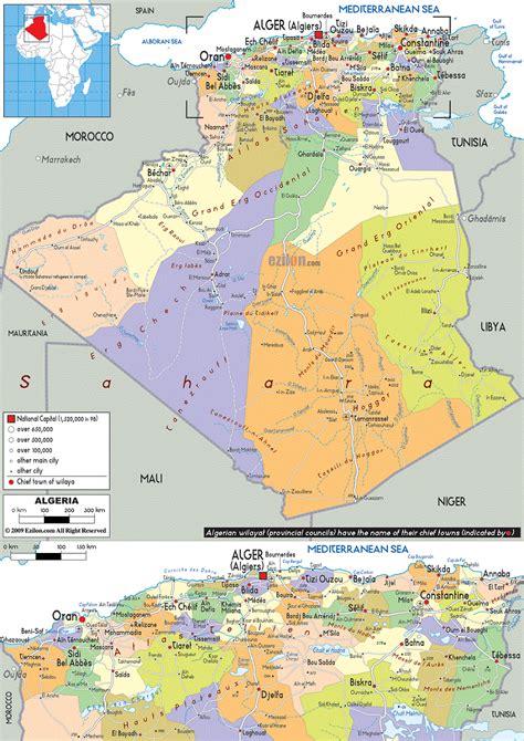 map of algeria cities the map of algeria about algeria discover algeria