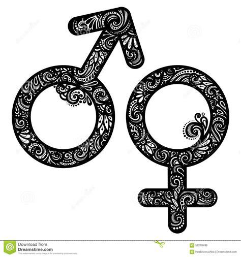imagenes simbolos hombre y mujer s 237 mbolos del hombre y de la mujer del vector ilustraci 243 n