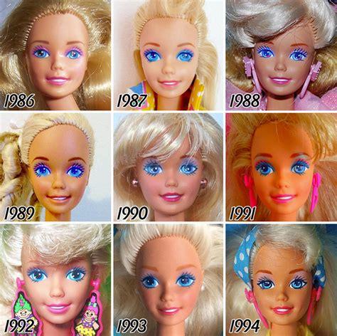 la impactante evolucion de la muneca barbie en  anos
