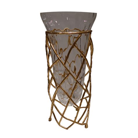 Twig Vase by Dessau Home Antiqued Gold Twig Vase