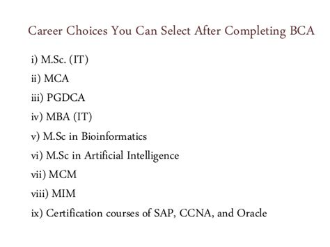 Mba After Mim by Bca Stands For The Bachelor In Computer Application