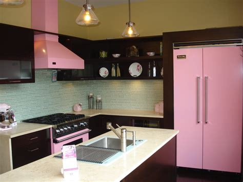 pink appliances kitchen viking pink kitchen contemporary kitchen cleveland