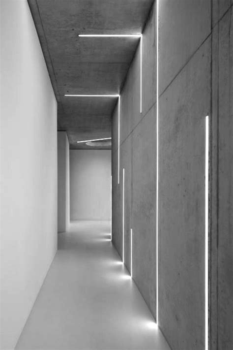 led lights for concrete ceiling light corridor spaces pinterest corridor beams and