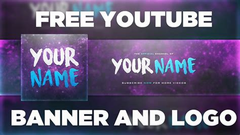 Space Youtube Banner Template Logo Photoshop Psd Free Download 2017 Youtube Banner Template 2017