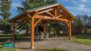 A Frame House Kits timber frame pavilion kit in vancouver wa framework plus