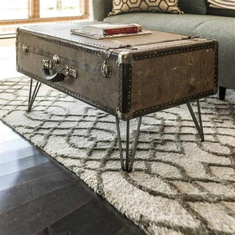 diy suitcase coffee table by eastman upcycledzine
