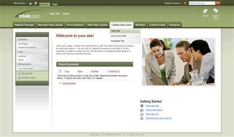 theme with page templates sharepoint themes sharepoint templates sharepoint master