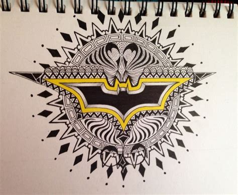 batman mandala tattoo batman zentangle by secko my art pinterest batman