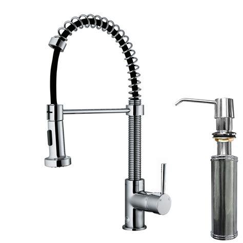 vigo edison single handle pull  spray kitchen faucet  soap dispenser reviews wayfair