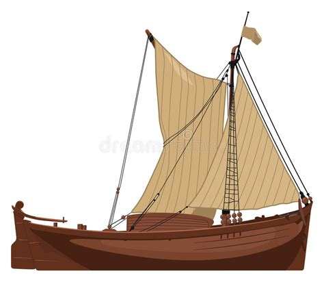 old boat vector free old dutch boat stock vector image 44613012