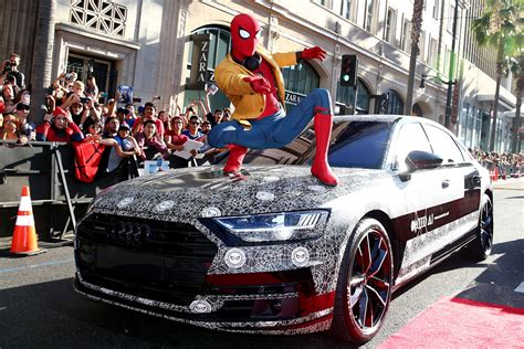 Audi A8 Spider by 2019 Audi A8 Shows Up At Spider Man Homecoming Premiere