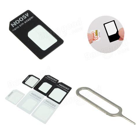 Sim Adapter Noosy Micro Nano Jarum Adapter Simcard noosy nano standard micro sim card adapter converter for