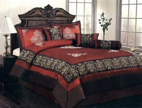 burgundy king size comforter set 7 piece king size comforter set majestic medallion black