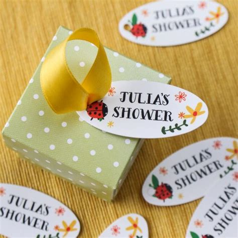 Personalized Baby Shower Tags by Personalized Oval Baby Shower Favor Gift Tags