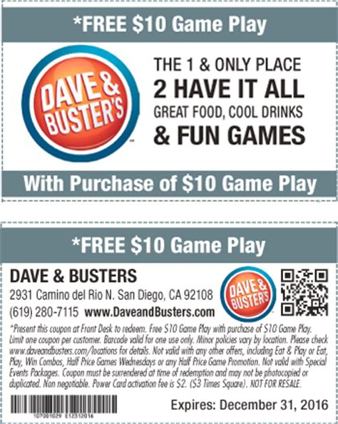 dave and busters printable food coupons dave n busters coupons printable coupon 2017 2018 best