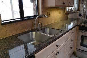 Ceramic Vanity Top Tan Brown Granite Granite Tile Countertop For Kitchen