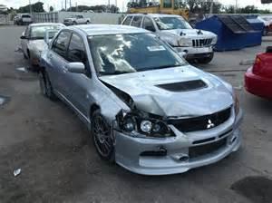 Salvage Mitsubishi Evo Wrecked 2006 Mitsubishi Lancer Evo For Sale In Fl