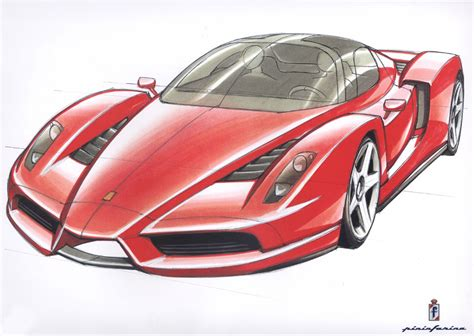 enzo sketch enzo 2002 supercar sketches