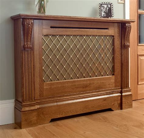 Mission Style Bench Dark Oak Bookcases Custom Wood Radiator Covers Radiator