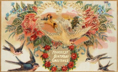 free printable victorian birthday cards vintage postcards vintage fangirl part 3