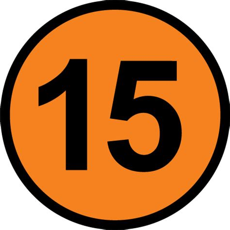 picture of number 15 free picture of the number fifteen