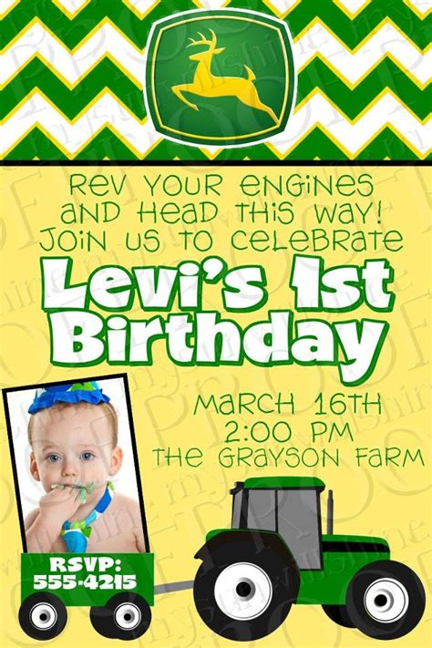 john deere printable birthday invitations john deere birthday party invitation mysunwillshine